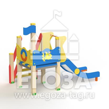 """Горка детская """"Кораблик"""" 0714"""